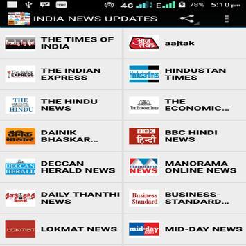 INDIA NEWS UPDATES apk screenshot
