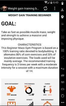 fitness trainer: weight gainer apk screenshot
