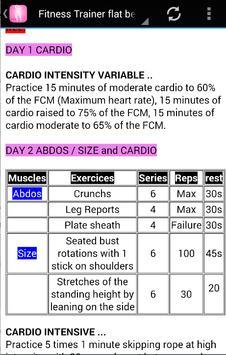 fitness trainer :  flat belly apk screenshot