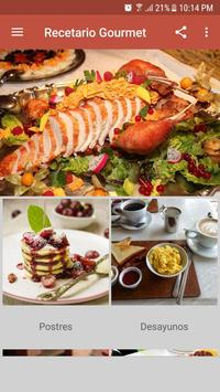 Recetario Gourmet poster