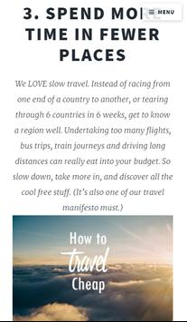 Save Money On Travel apk screenshot