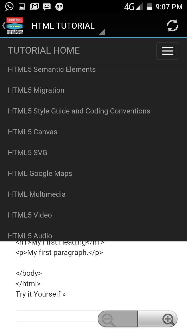 HTML TUTORIAL OFFLINE APP for Android - APK Download