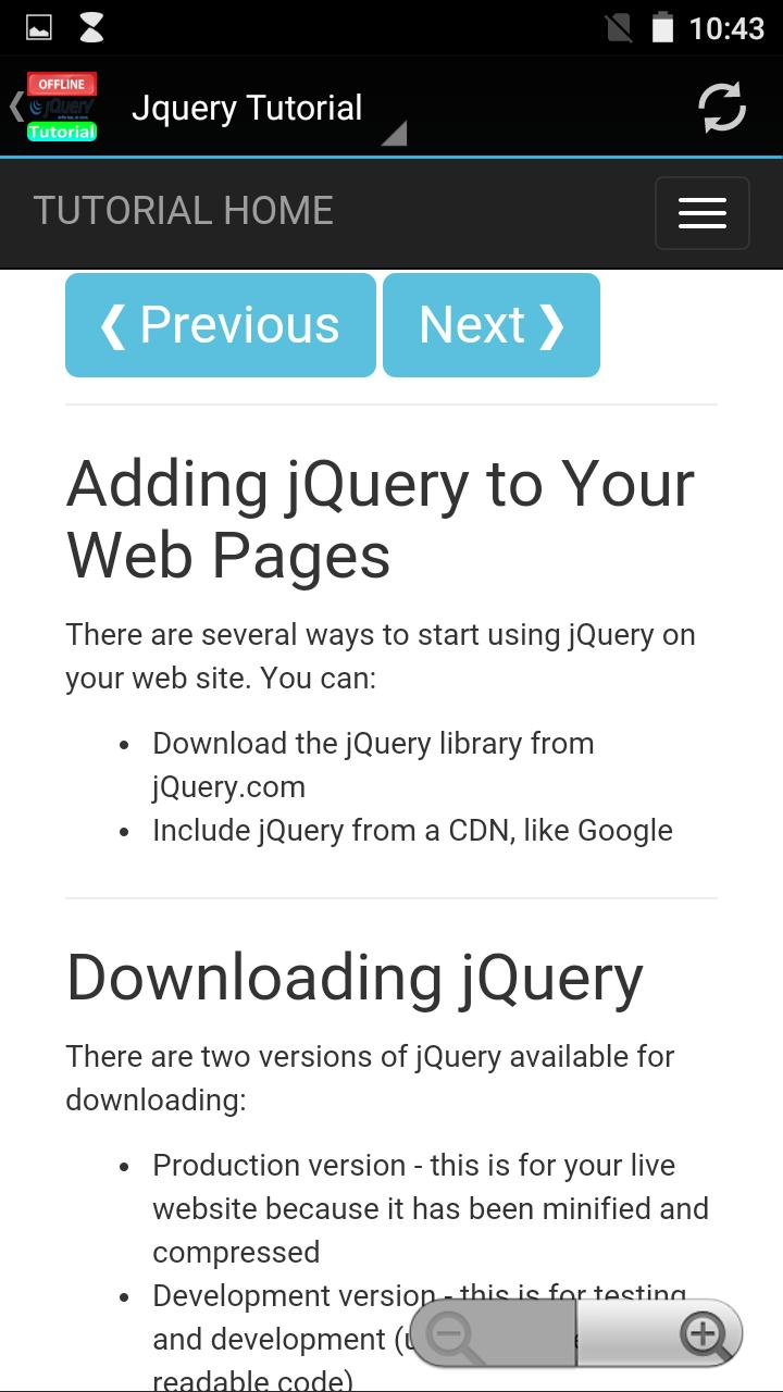 Jquery Full Tutorial Offline for Android - APK Download