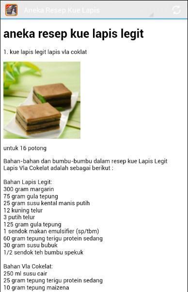 Aneka Resep Kue Lapis Für Android Apk Herunterladen