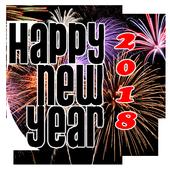 New Year 2018 HD photo congratulations icon