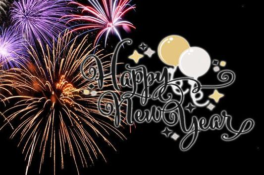 New Year 2018 HD photo congratulations poster