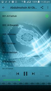 Abdulmohsin Al Obaikan Full Quran MP3 apk screenshot