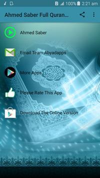 Sheikh Ahmed Saber Full Quran Offline poster