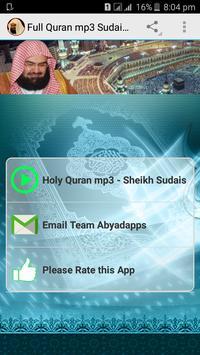 Full Quran mp3 Sudais Offline poster