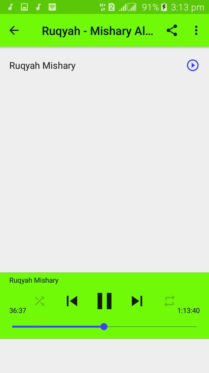 MP3 Ruqyah - Sheikh Mishary Rashid Al Afasy for Android