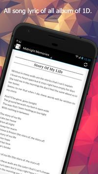 All 1D Lyrics apk screenshot