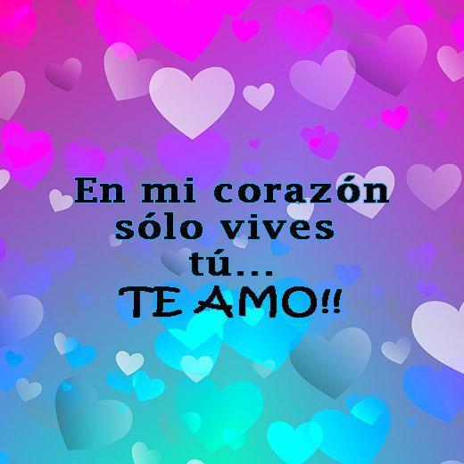 Te Amo Mi Amor Frases Con Rosas Y Corazones для андроид