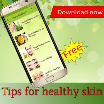 Tips for healthy skin poster