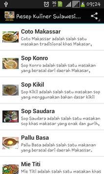 Resep Kuliner Sulawesi Selatan poster