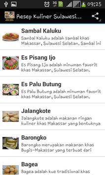 Resep Kuliner Sulawesi Selatan screenshot 2