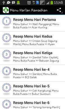 Resep Menu Harian Ramadhan poster