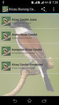 Suara Burung Cendet Gacor poster