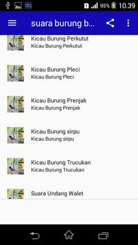 Top Suara Burung Berkicau Offline screenshot 2