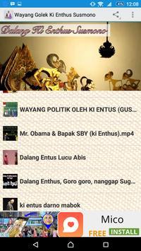 Wayang Kulit Ki Enthus Susmono poster