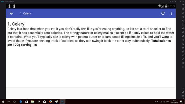 Zero Calorie Food to Slim Down apk screenshot