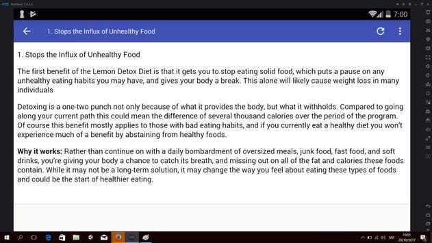 Benefits of Lemon Detox Diet apk screenshot