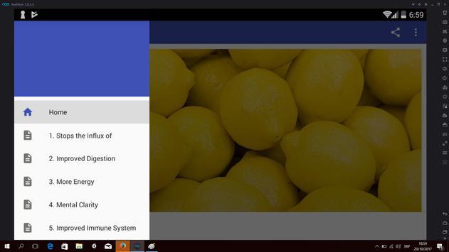 Benefits of Lemon Detox Diet poster