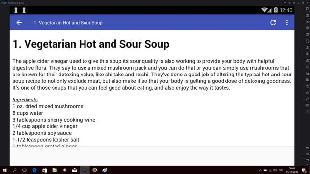 Detox Soups apk screenshot