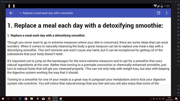 Simple and Natural Detox apk screenshot