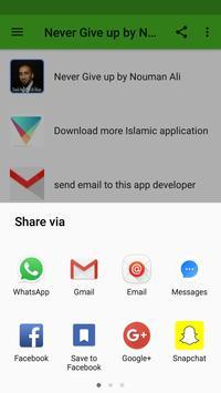 Never Give up by Nouman Ali apk screenshot