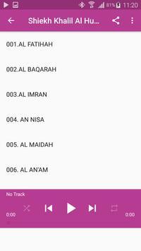 Shiekh Khalil Al Husary-Qur'an Mp3 screenshot 6