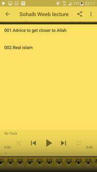 Imam Sohaib Weeb lecture apk screenshot