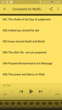 Complete Dr Mufti Menk Lecture apk screenshot