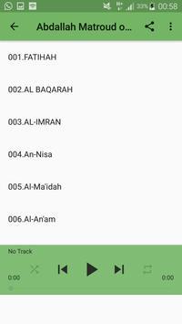 Sheik Abdallah Matroud Online Qur'an-(internet) apk screenshot