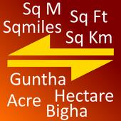 India Land Area Converter icon