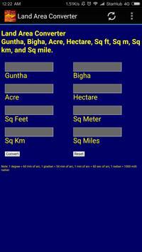 India Land Area Converter apk screenshot