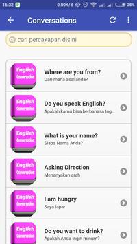 Belajar Bahasa Inggris Percakapan Sehari Hari screenshot 1