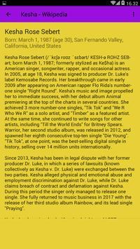 Best Of Kesha Songs Mp3 Music apk screenshot