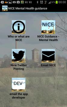 NICE Guidance in Mental Health poster