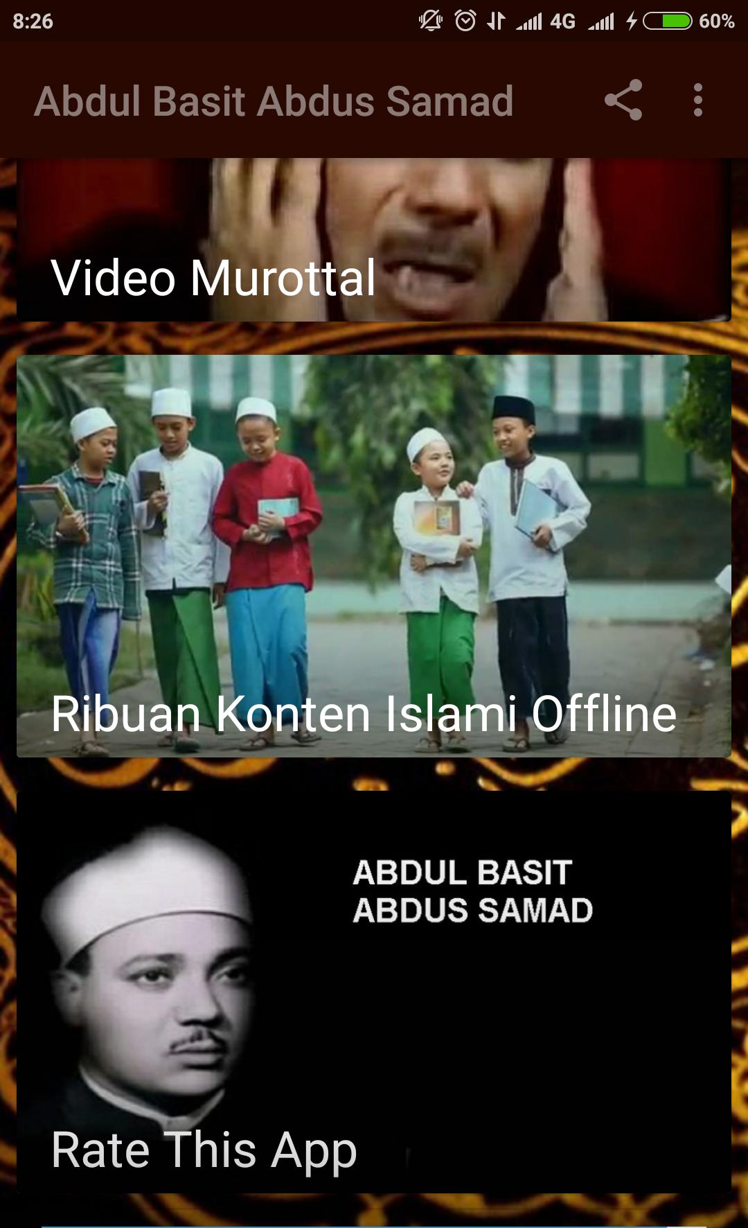 ABDUL BASIT ABDUSSAMAD ALQURAN AUDIO MP3 & VIDEO for Android
