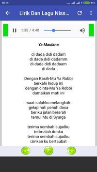 Lagu Ya Maulana Nissa Sabyan Offline + Lirik screenshot 1