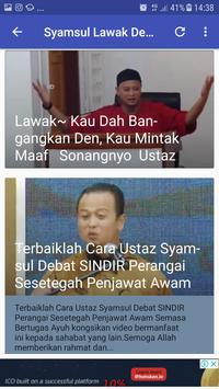 Syamsul Debat Lawak Best screenshot 1
