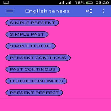 English Tenses screenshot 2