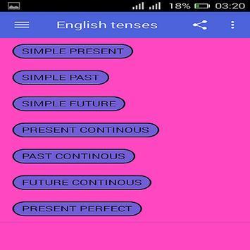 English Tenses screenshot 4