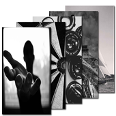 Black White Wallpaper HD icon