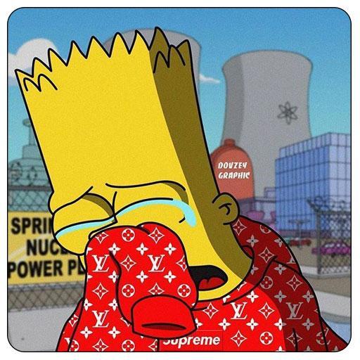 Supreme X Bart Simpson Wallpaper HD