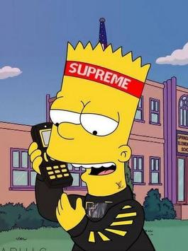 Supreme X Bart Simpson Wallpaper HD Screenshot 3