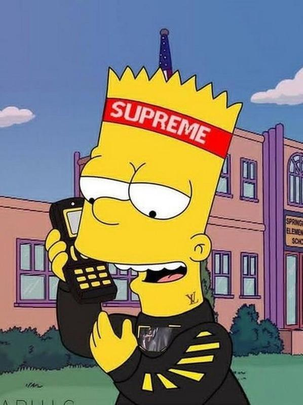 Supreme X Bart Simpson Wallpaper HD for Android - APK Download