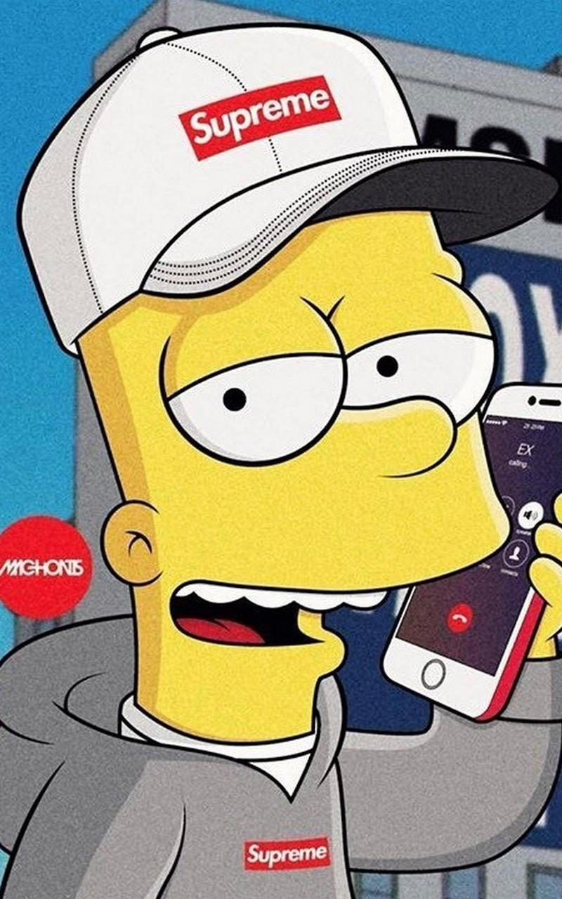 Supreme X Bart Simpson Wallpaper Hd For Android Apk Download