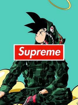 Goku x Supreme Wallpaper Art poster
