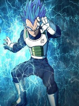 Vegeta SSJ Blue Wallpaper Art screenshot 3